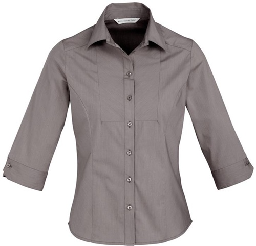 Biz Chevron Ladies 3/4 Sleeve Shirt S122LT 5