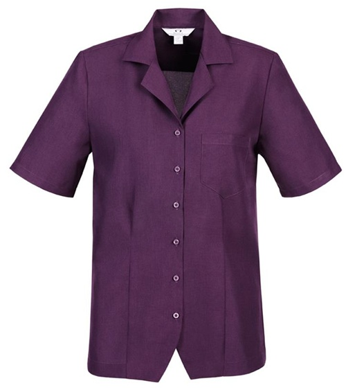 Biz Oasis Plain Ladies Overblouse S265LS 3