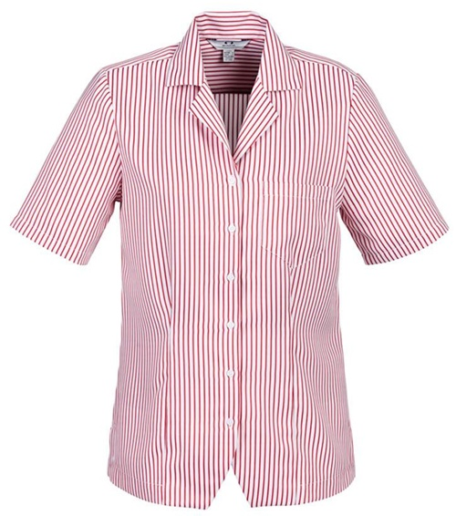Biz Oasis Stripe Ladies Overblouse S266LS 3