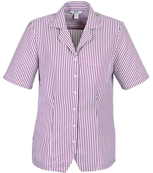 Biz Oasis Stripe Ladies Overblouse S266LS 4