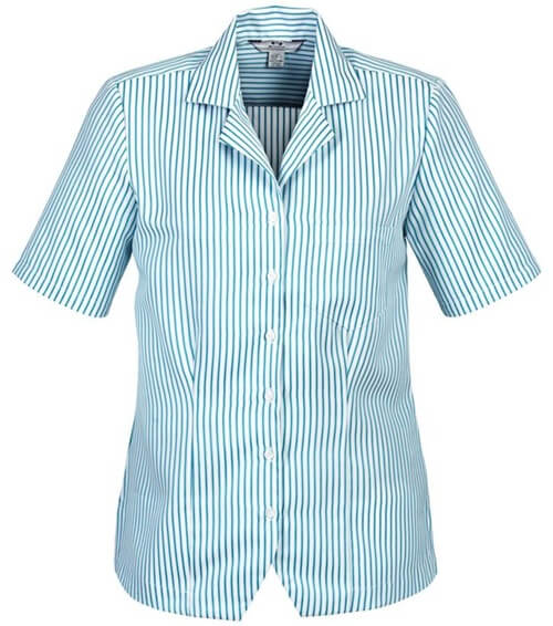 Biz Oasis Stripe Ladies Overblouse S266LS 2