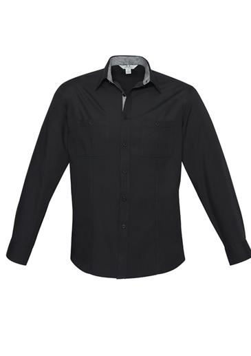 Biz Bondi Mens Long Sleeve Shirt S306ML 6