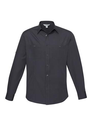 Biz Bondi Mens Long Sleeve Shirt S306ML 4
