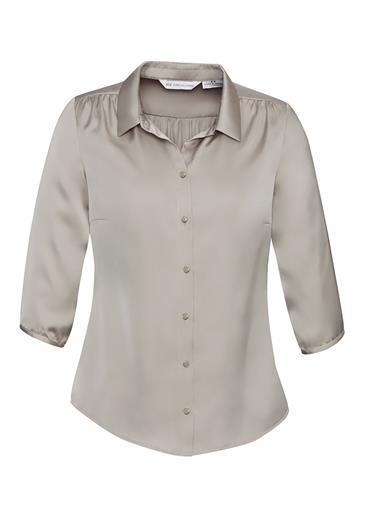 Biz Shimmer Ladies 3/4 Sleeve Blouse S313LT 4