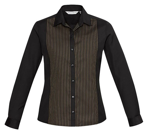Biz Reno Panel Ladies Long Sleeve Shirt S414LL 2