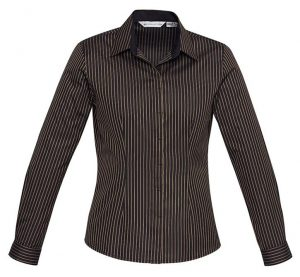 Biz Reno Stripe Ladies Long Sleeve Shirt S415LL 2