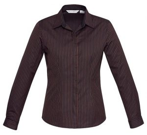 Biz Reno Stripe Ladies Long Sleeve Shirt S415LL 3