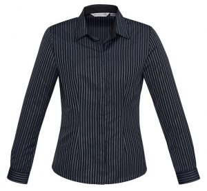 Biz Reno Stripe Ladies Long Sleeve Shirt S415LL 4