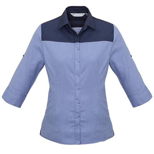 Biz Havana Ladies 3/4 Sleeve Shirt S503LT – Denim 2