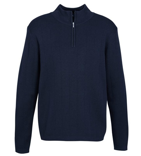 Biz 80/20 Wool-Rich Mens 1/2 Zip Pullover WP10310 2