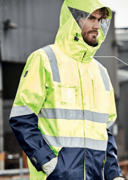 SYZ Unisex Hi Vis 4 in 1 Water Proof Jacket ZJ532