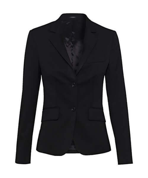 Bracks Womens Single Breasted Two Button Plain Twill Jacket JKTW124