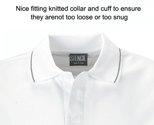 Stencil Lightweight Cool Dry Mens Polo 1010D