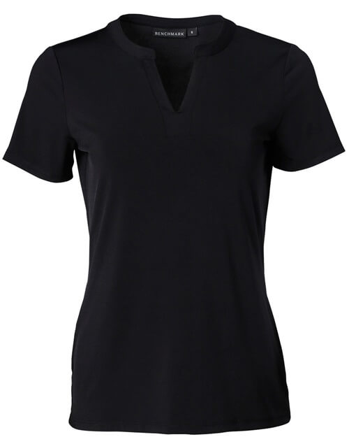 Black womens v-neck shirt
