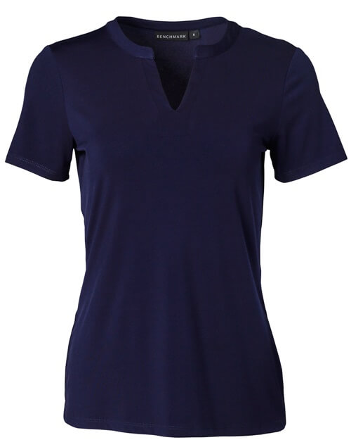 Purple womens v-neck shirt