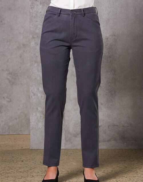 WS Boston Chino Ladies Stretch Cotton Chino Pants M9390