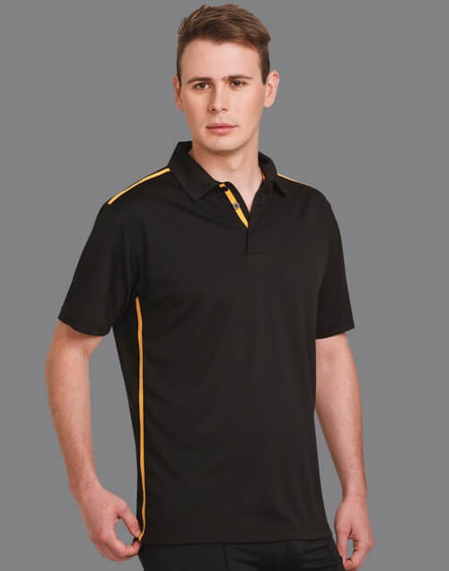 WS Staten RapidCool Mens Short Sleeve Contrast Polo PS83