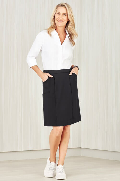 Biz Care Womens Comfort Waist Cargo Skirt CL956LS