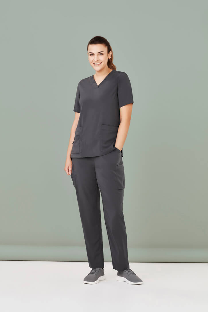 Biz Care Womens Avery Easy Fit V-Neck Scrub Top CST941LS