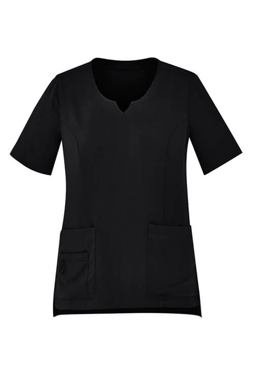 Biz Care Womens Tailored Fit Round Neck Scrub Top CST942LS