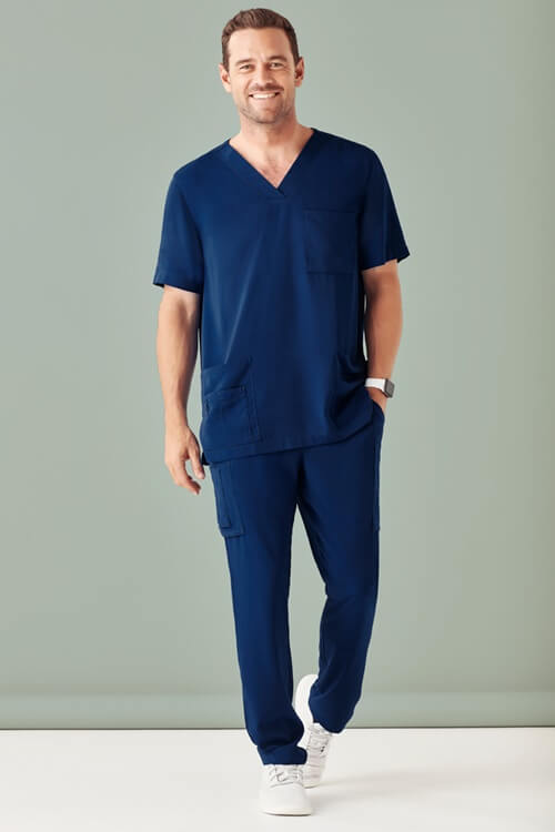 Biz Care Mens V-Neck Scrub Top CST945MS