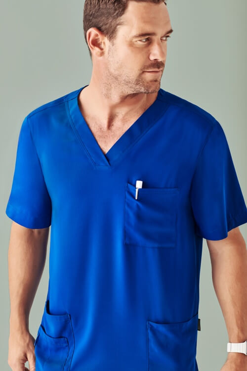 Biz Care Mens Avery V-Neck Scrub Top CST945MS