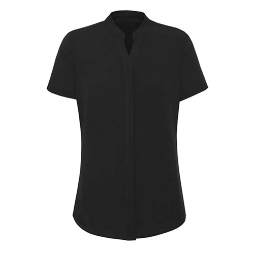 BC Juliette Ladies Plain Short Sleeve Blouse RB977LS