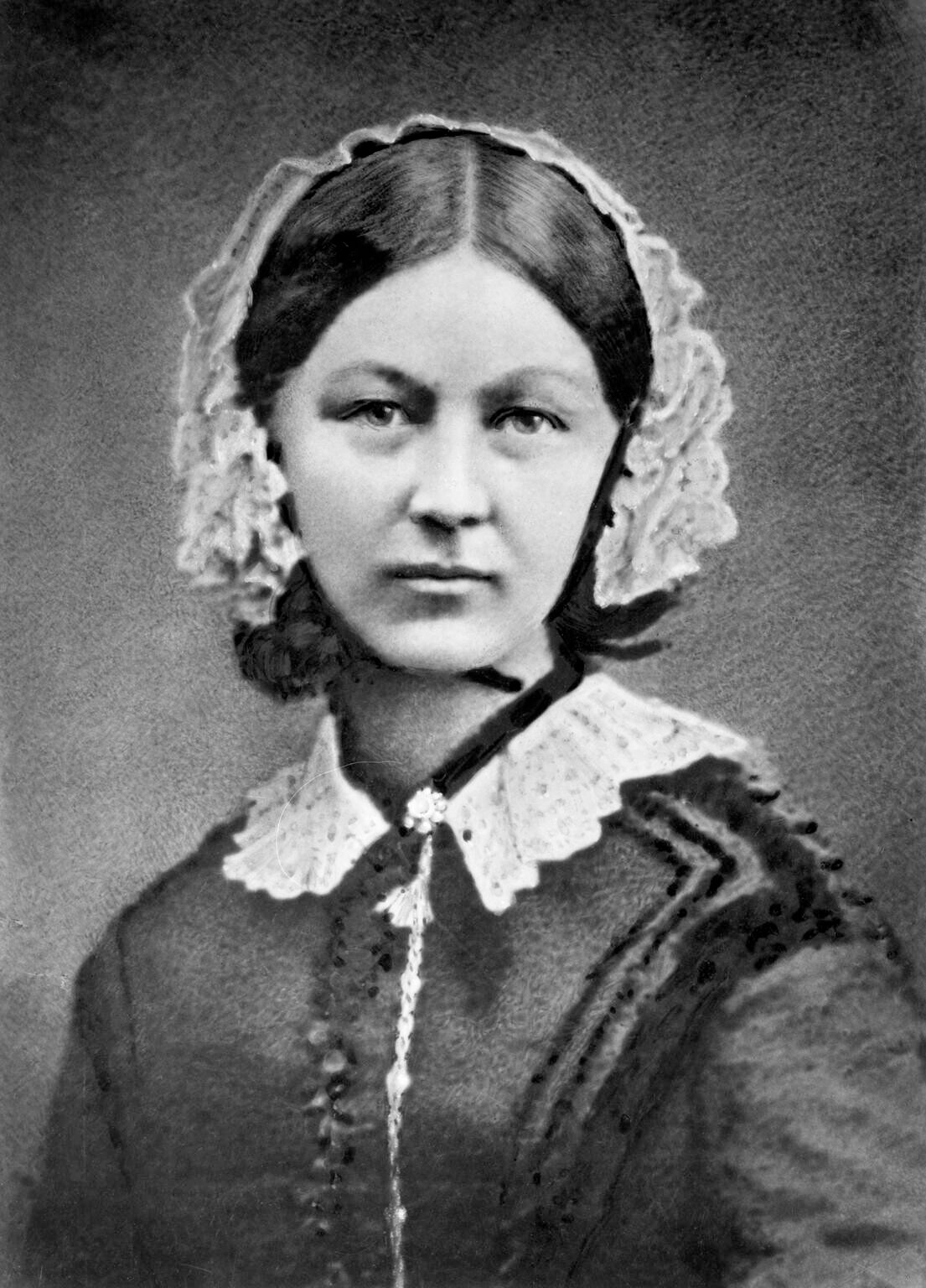 Florence Nightingale in a nurse uniform