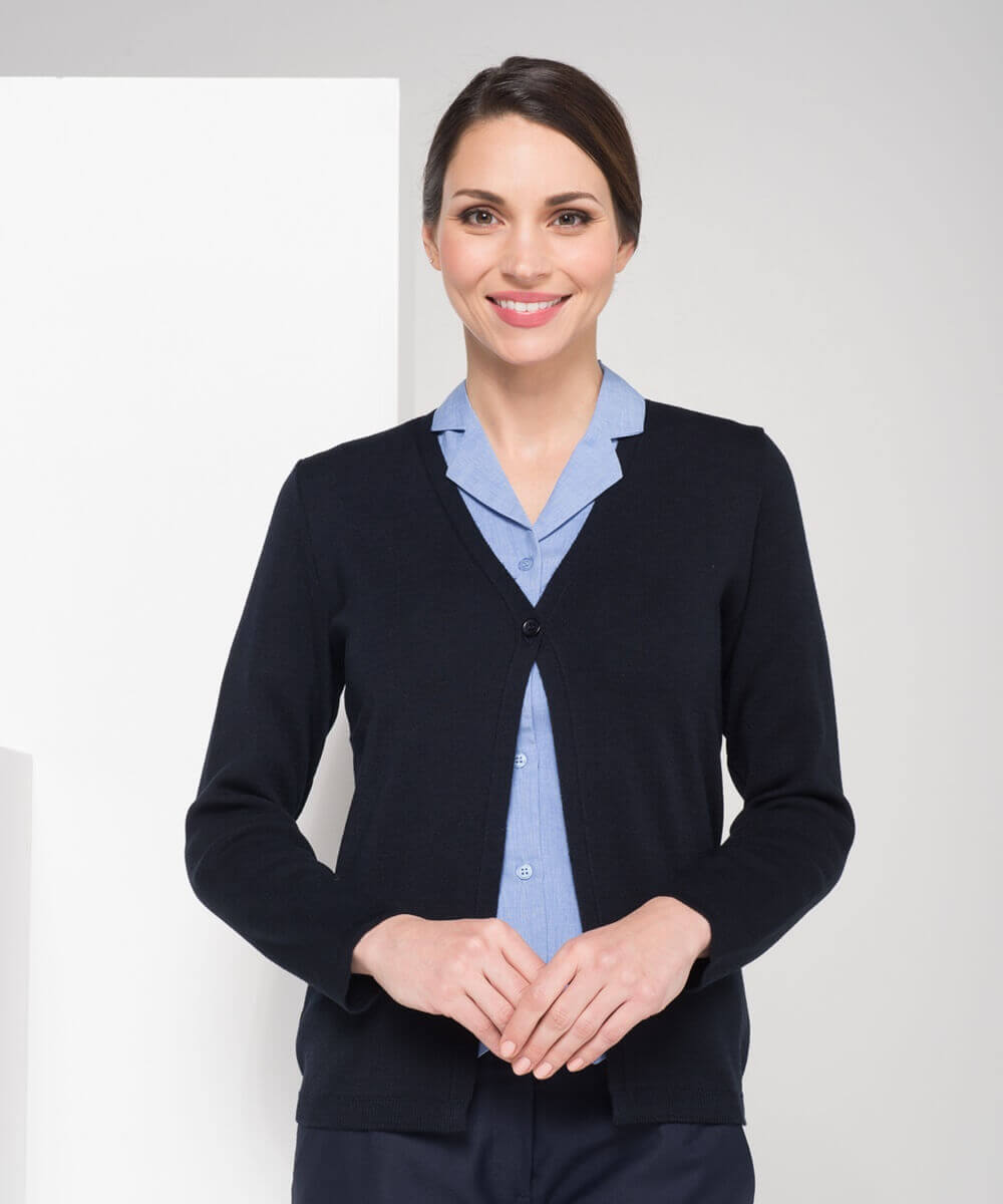 LSJ Ladies Single Button Cardigan WB410