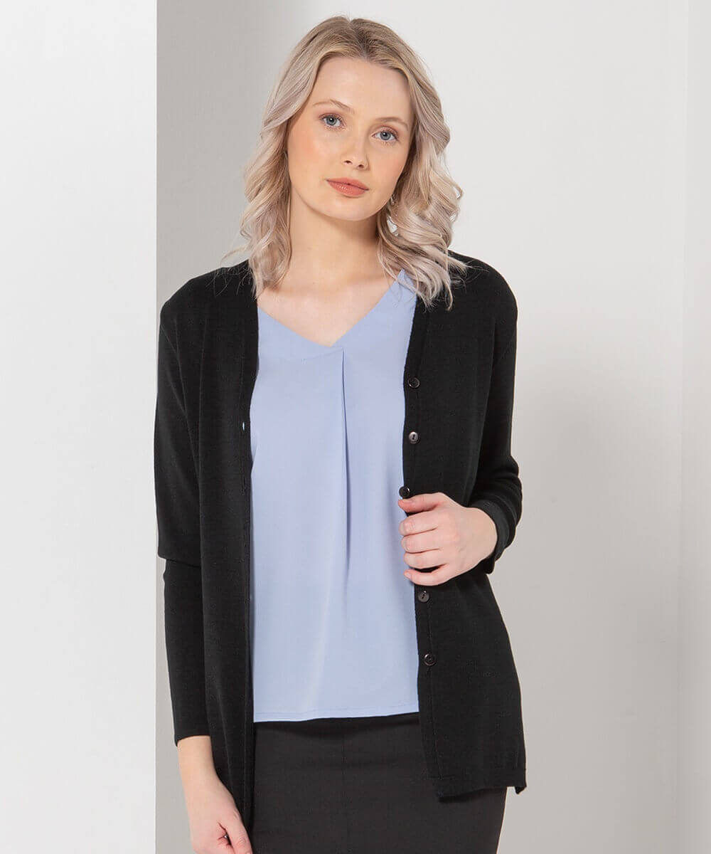 LSJ Ladies Long Line Cardigan WBV4