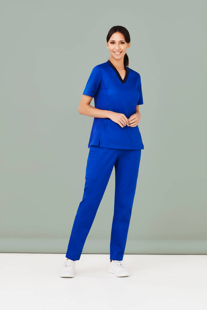Biz Care Scrub Set – Womens Riley V-Neck Scrub Top CST043LS & Straight Leg Scrub Pant CSP047LL