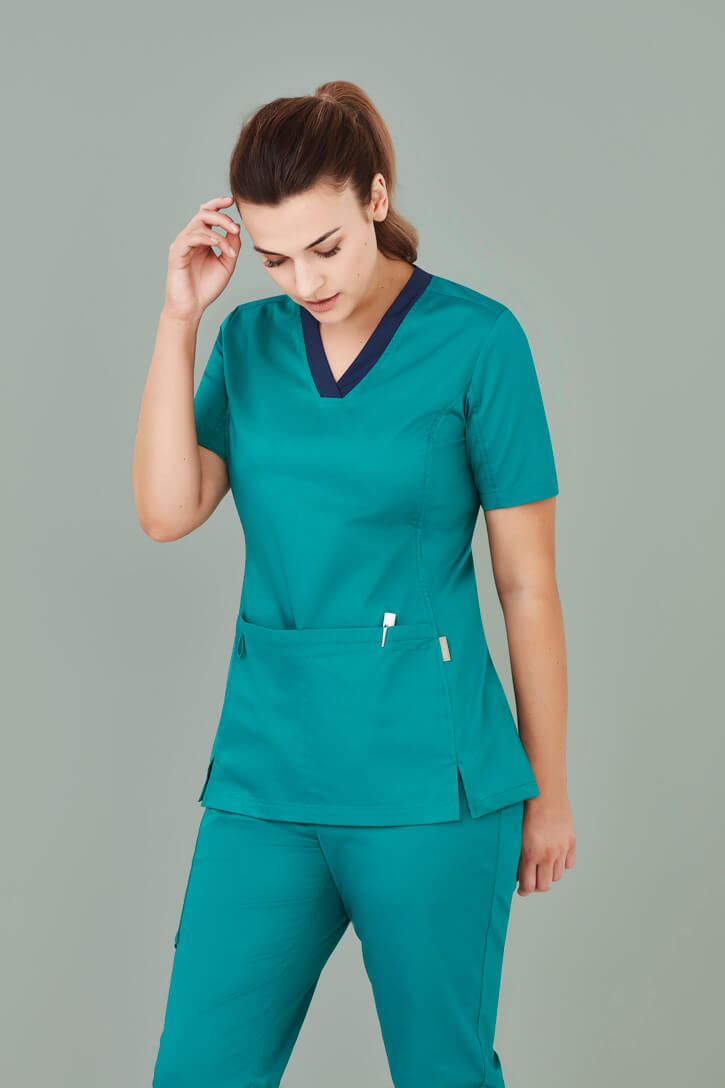 Biz Care Womens Riley V-Neck Scrub Top CST043LS