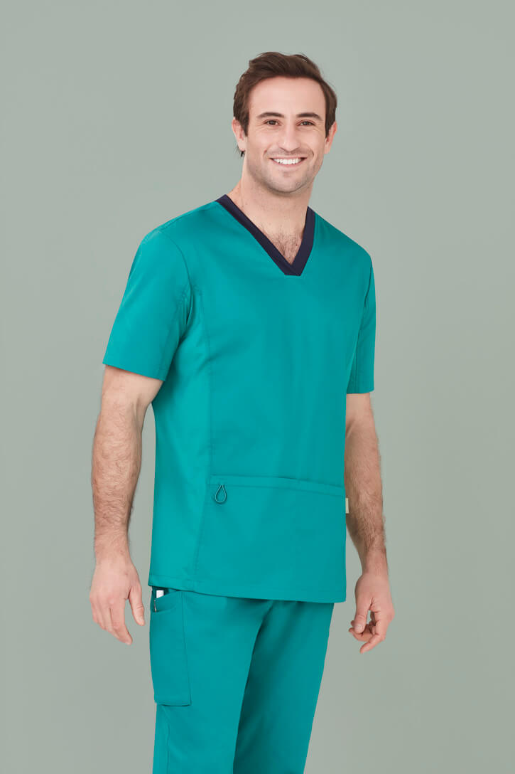 Biz Care Mens Riley V-Neck Scrub Top CST043MS