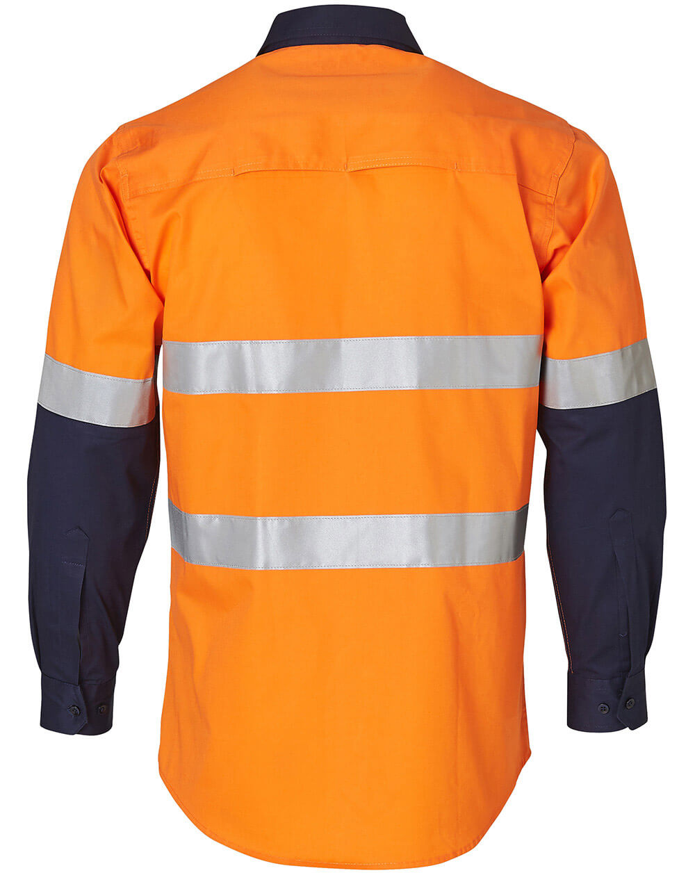 WS Mens High Vis Cool-Breeze Cotton Twill Long Sleeve Safety Shirt with Reflective 3M Tapes SW60