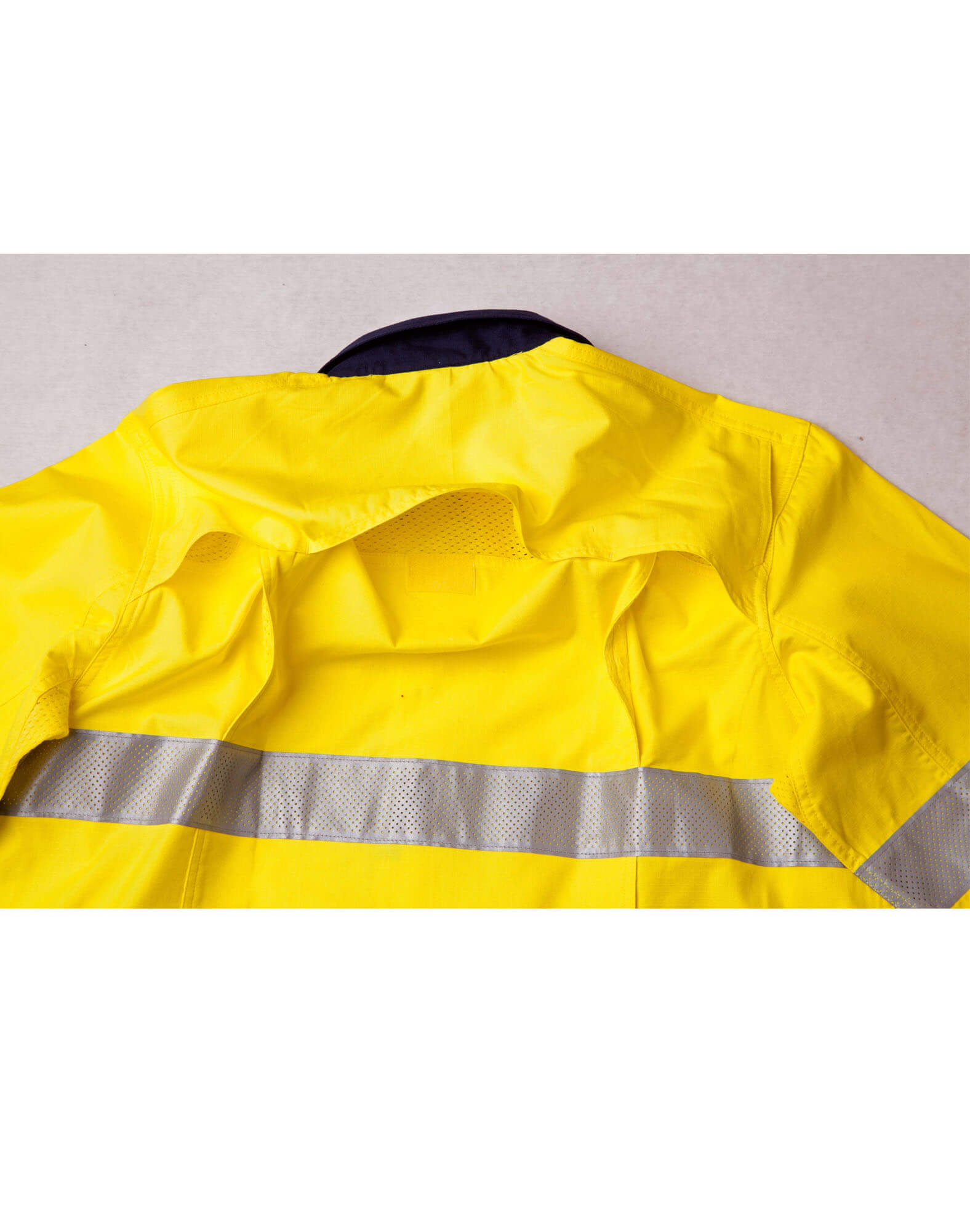 WS Unisex Hi Vis Cotton Rip-Stop Long Sleeve Safety Shirt with 3M Tape SW69