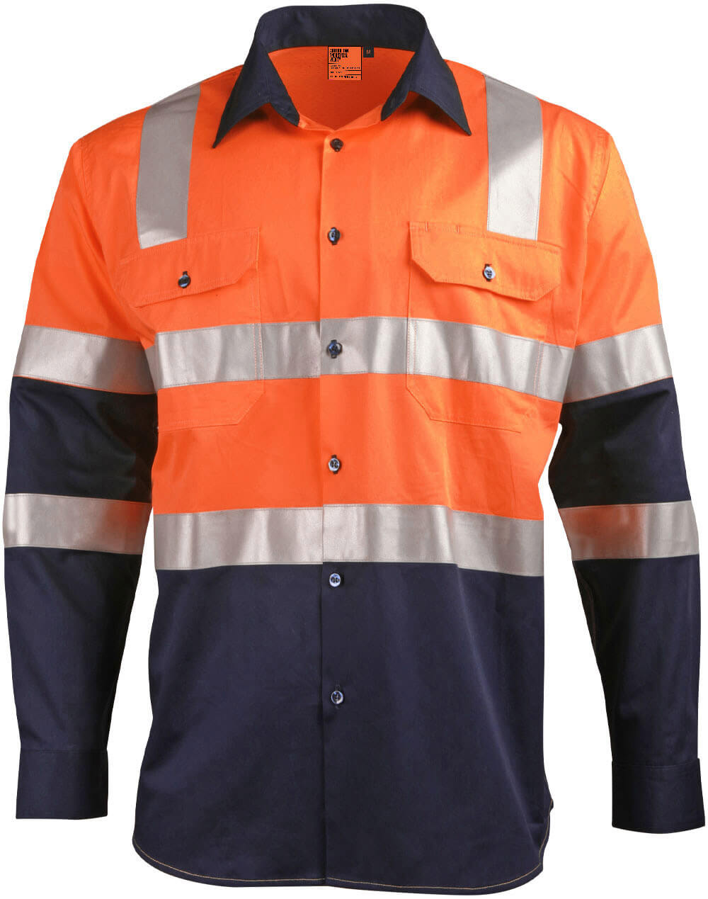 WS Biomotion Day/Night Light Weight Safety Shirt with X Back Tape Configuration SW70