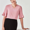 BC Aria Ladies Fluted Sleeve Blouse RB966LS